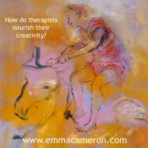 How do therapists nourish their creativity?