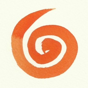 painted orange spiral logo ©Emma Cameron 2015