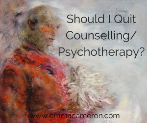 Wondering whether it's time to quit therapy? Some ideas here to help you decide. Oil painting ©Emma Cameron 2015