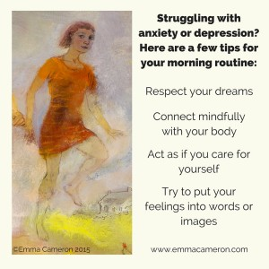 Tips for anxiety & depression ©Emma Cameron 2015
