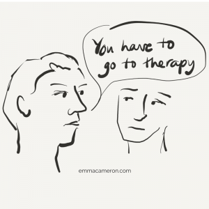 Person telling another, You have to go to therapy