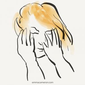 Person feeling shame