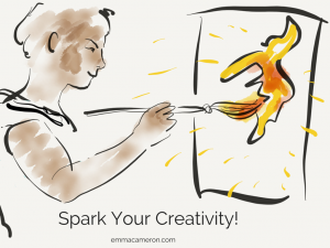 Spark your creativity: image shows person painting