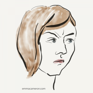 Woman feeling angry