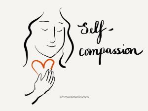 Person feeling self-compassion