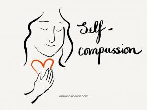 Person feeling self-compassion