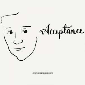 Person next to the word 'Acceptance'