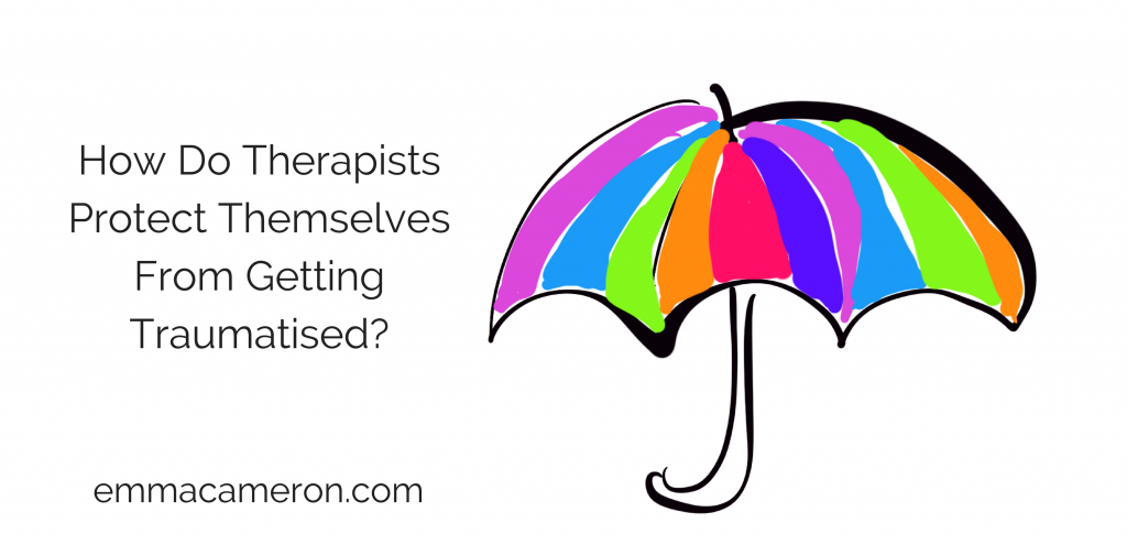 Image of umbrella to illustrate how therapists protect themselves