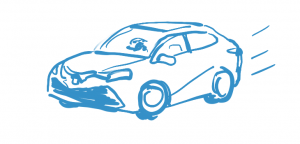 Drawing of car