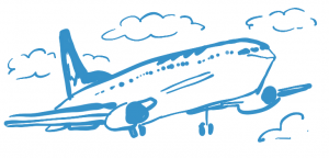 drawing of airplane - Highly Sensitive Person's Guide to Online Counselling