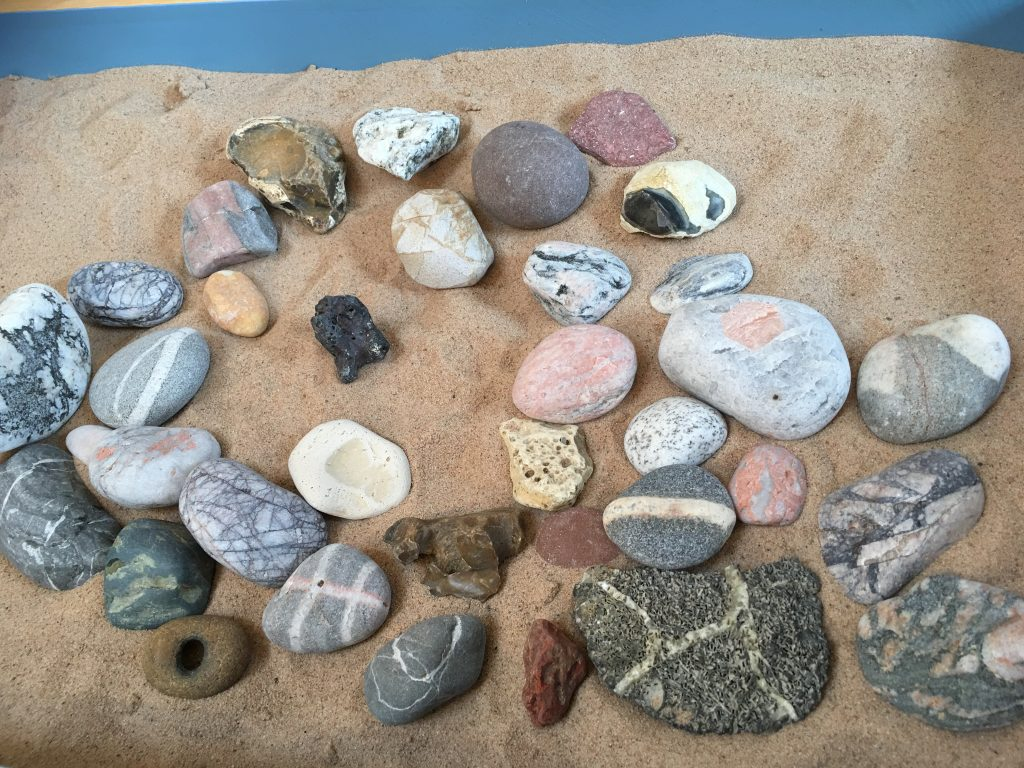 Stones in Counselling sandtray sand tray therapy
