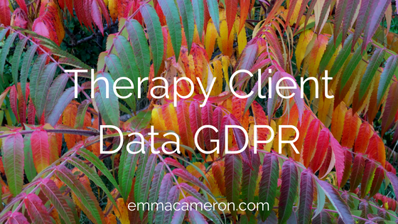 Therapy Client Data GDPR