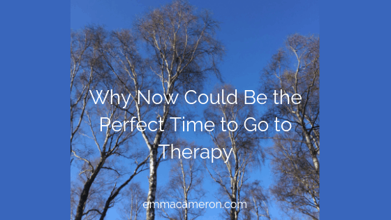 Why now could be the perfect time to go to therapy (image of treetops)