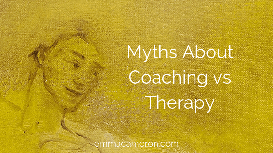 Image of face to illustrate myths about coaching vs therapy