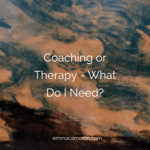 coaching or therapy - what do I need?