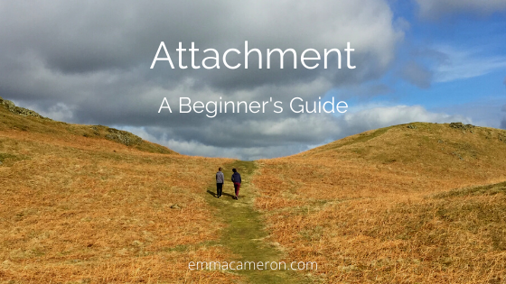 Attachment - a beginner's guide - image shows two people walking together on hillside