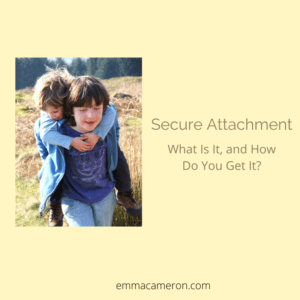 secure attachment photo of two children