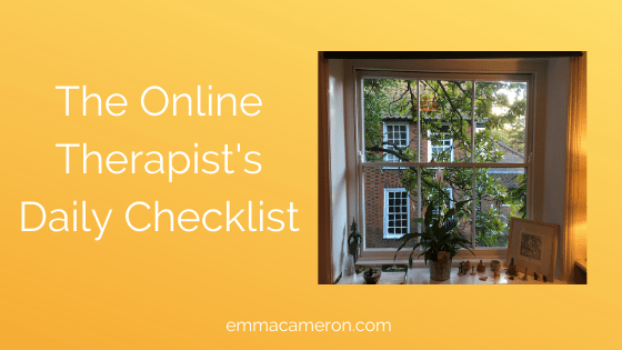 The online therapist's daily checklist